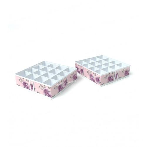 Кофр для мелочей на 16 ячеек 35х35х10см. 122