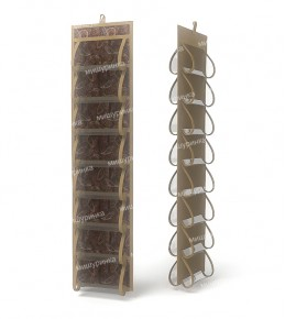 Органайзер для колготок и мелочей, двусторонний, 16 карманов. 1210