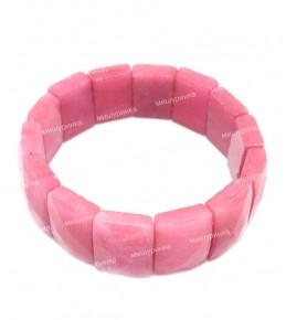 Браслет граненый классика розовый (агат крашенный) 103-03