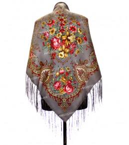 Платок с цветами 120x120 см