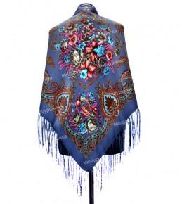 Платок с цветами 120x120 см. СЦ-2
