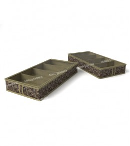 Короб для обуви, на 4 ячейки перегородки съемные на липучке. 1234