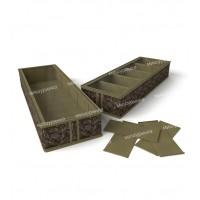 Короб для обуви, на 5 ячеек 26х78х12 см. 1236
