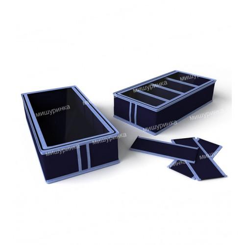 Короб для обуви, 4 ячейки, перегородки съемные на липучке. 1734-1